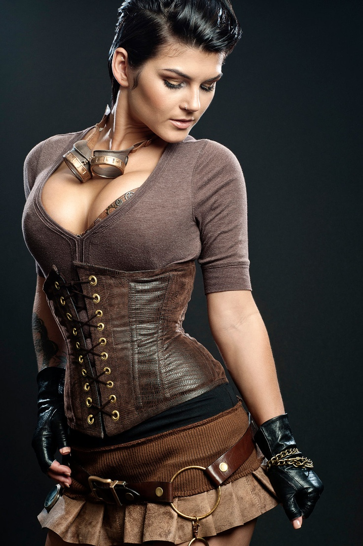 Steampunk Vegan Leather corset style