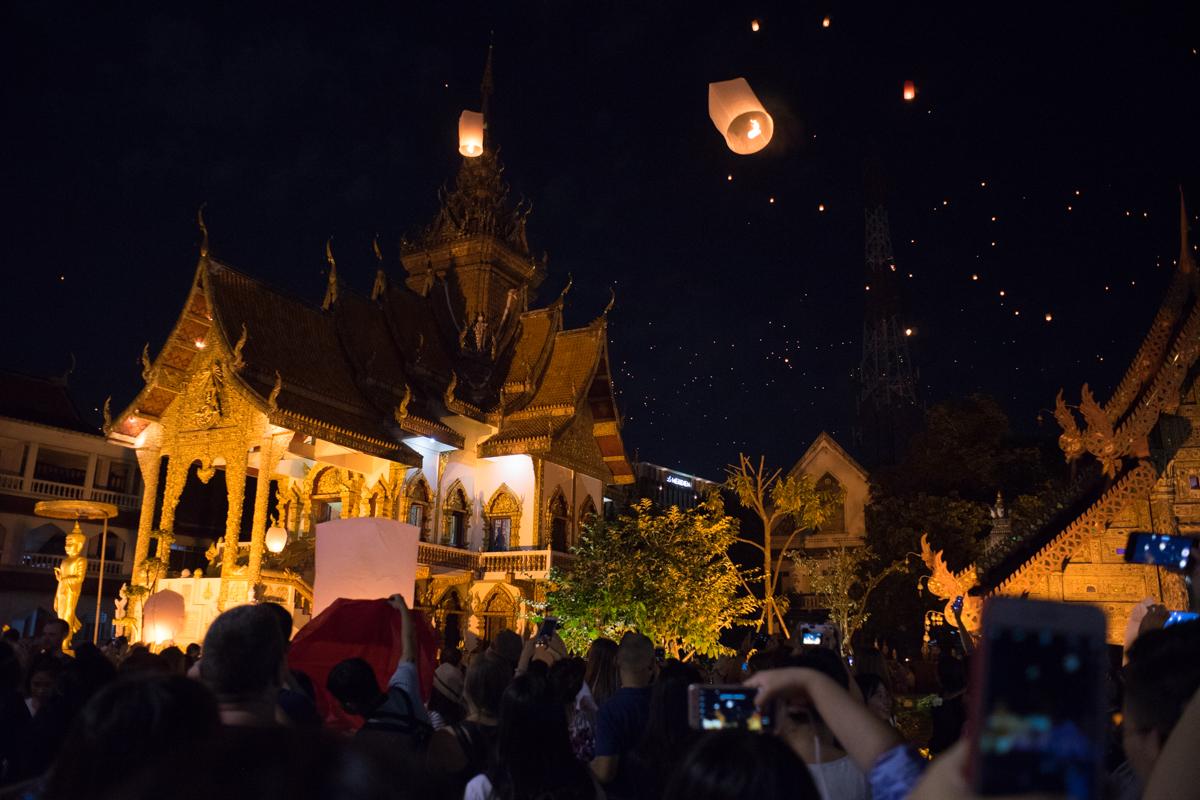 Yee Peng / Loy Krathong Lantern Festival in Chiang Mai