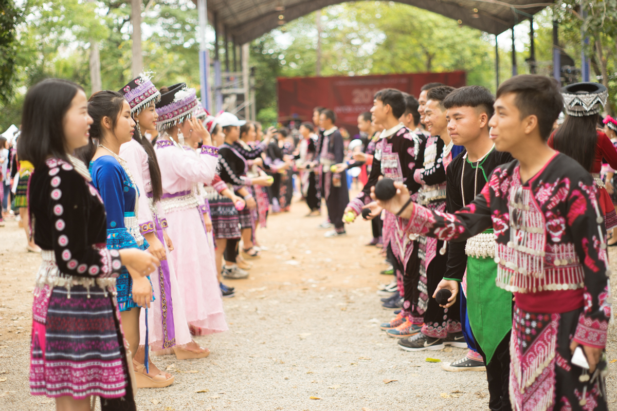 Hmong New Years at King Rama IX Park Chiang Mai Thailand